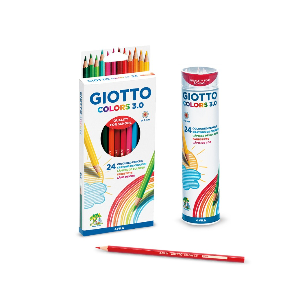 GIOTTO Colors 3.0  Coloured Pencils Pack of 12