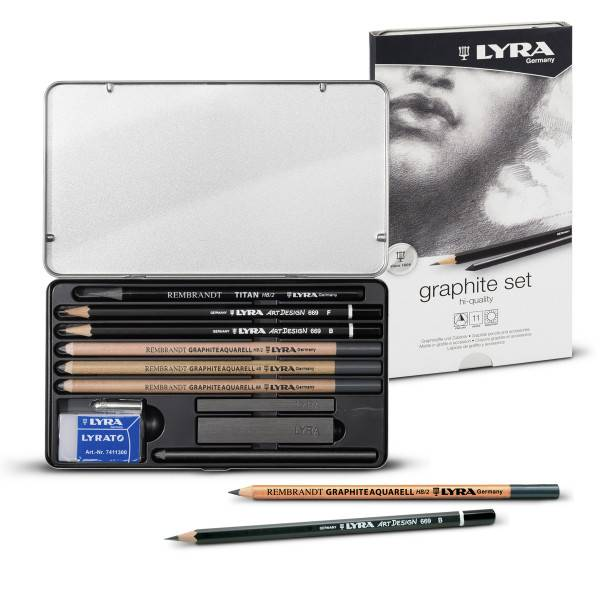 Graphitstift Bleistift 669 ART DESIGN Hi-Quality 2B Lyra Künstler